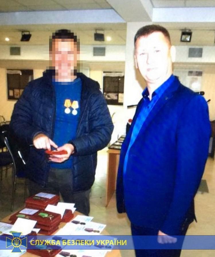 У севастопольца есть награды. Фото: с сайта СБУ Украины
