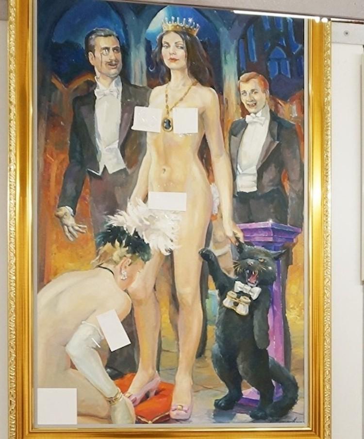 Под запрет попали картины, нарисованные по мотивам произведений Михаила Булгакова. Фото: предоставлено Салаватом Фазлитдиновым