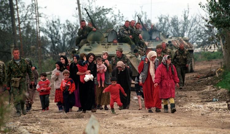 Эвакуация мирного населения.