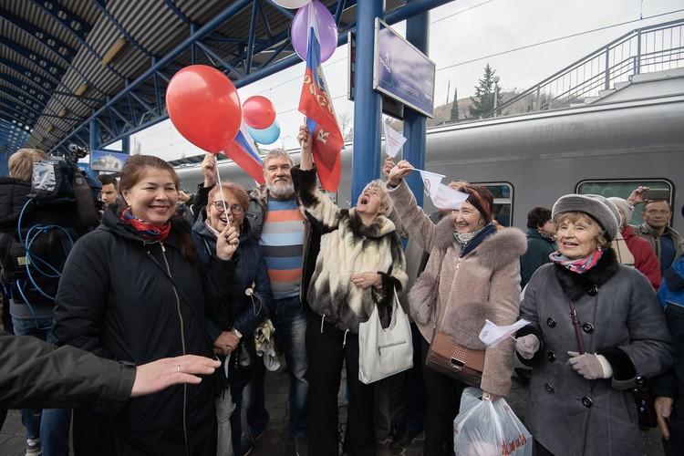 Севастопольцы безумно рады новым поездам