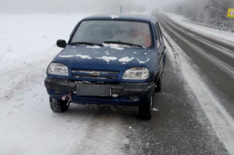 В этой машине замерзал братчанин. Фото: ГУ МВД России по Иркутской области.