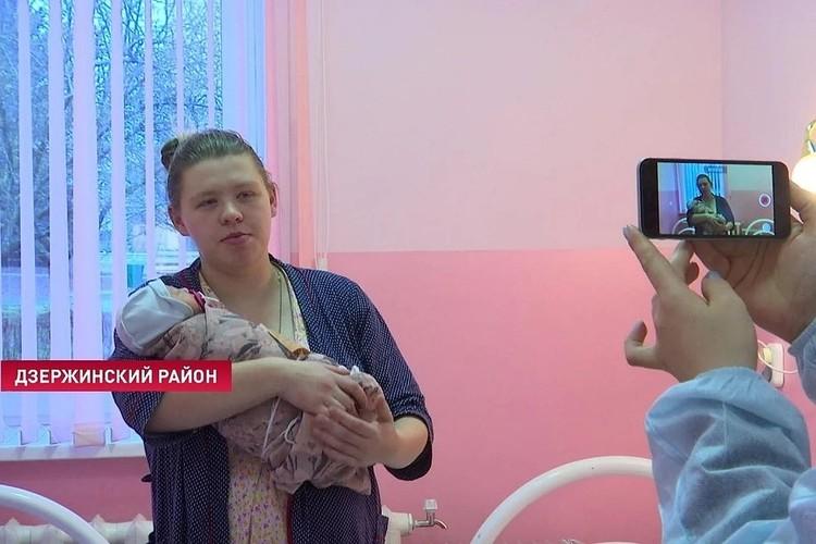 Счастливая мама Кристина с доченькой уже дома. Фото: ctv.by
