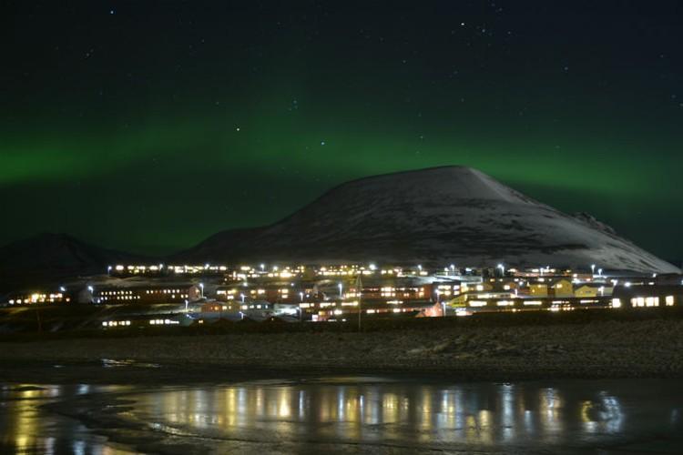 Северное сияние над Арктикой - красота. Фото: личный архив.