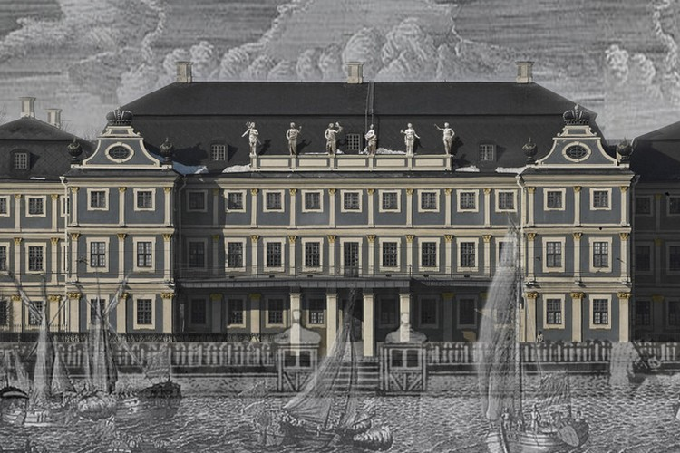 По мнению архитекторов, внешняя отделка дворца изначально была именно такой. Да, возможно, выглядит мрачновато, но в сочетании со свинцово-серыми водами Невы такое цветовое решение смотрелось невероятно сурово и величественно. Фото: пресс-служба СПбГУ