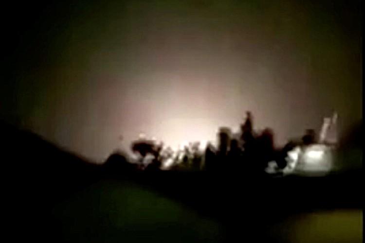 Ракетные удары по военной базе в Ираке.