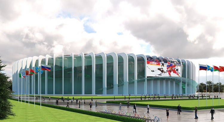 Ребра фасада почти такие же, как у нынешнего СКК. Фото: «ГорКапСтрой»