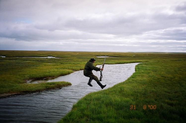 Бежим от прилива. Фото из архива Павла Ситникова