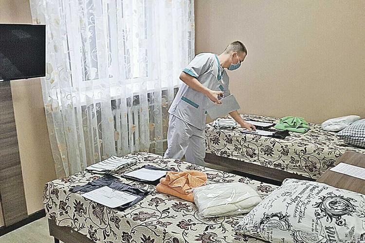 Так выглядят комнаты, в которых проходят карантин россияне, эвакуированные из Уханя, эпицентра распространения коронавируса.