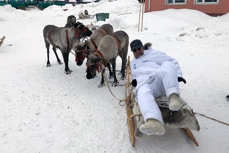 Леонид Ярмольник отказался прокатиться на оленях