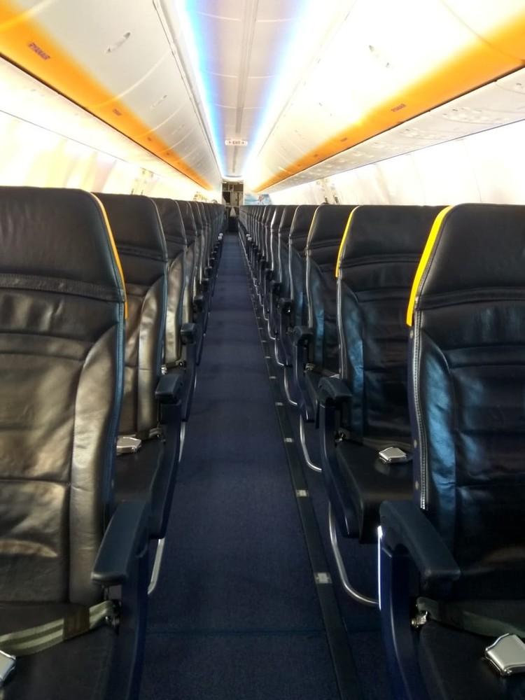 А это пустой самолет в Кельн
