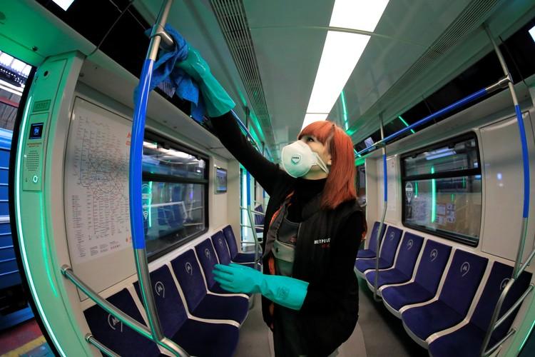 Дезинфекция метро в Москве