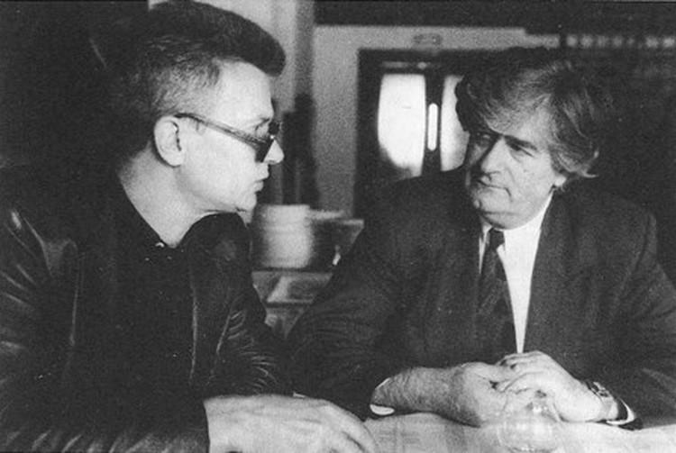 1992 г. С лидером боснийских сербов Радованом Караджичем под Сараево.