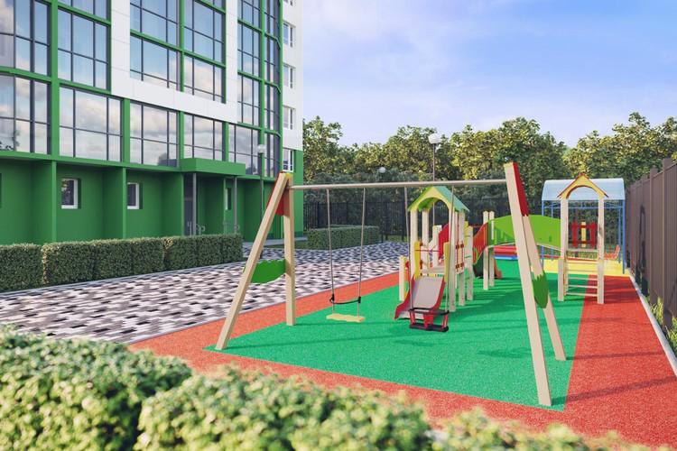 Залог комфорта и безопасности будущих новоселов - благоустроенная придомовая территория. Фото предоставлено отделом продаж «Акация на Красногорской».