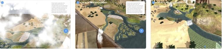 Приложение дополненной реальности Free Rivers от Всемирного фонда дикой природы на любой ровной поверхности развернёт полноценную модель свободно текущей реки. Фото: предоставлено компанией Apple