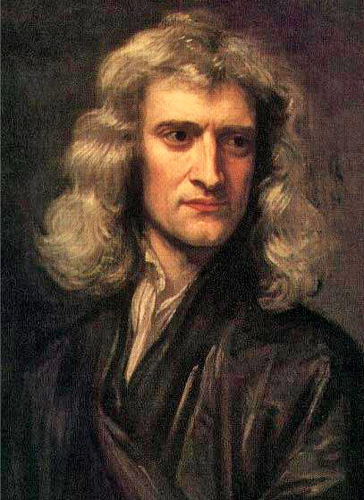 Ученый Исаак Ньютон. Портрет кисти Г. Кнеллера
