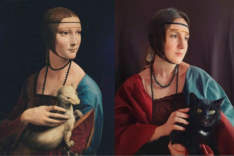 """Леонардо Да Винчи """"Дама с горностаем"""". Фото: instagram.com/brana_art/"""