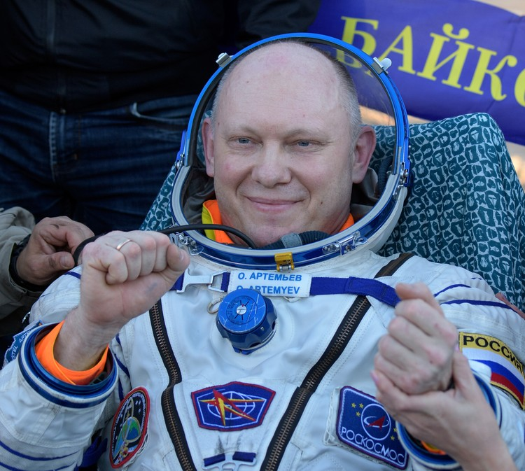 Олег Артемьев после полета