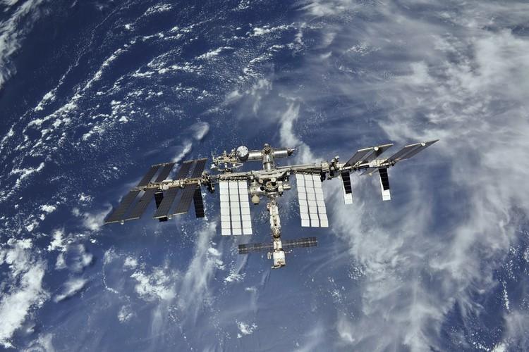 МКС на земной орбите