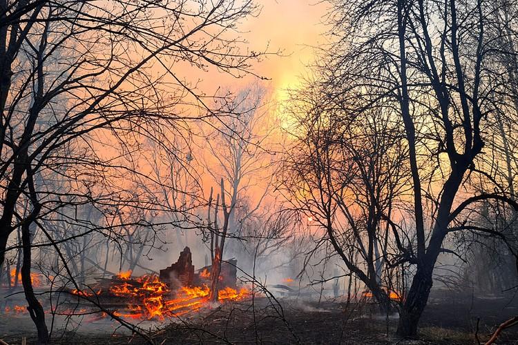 Пожары в районе Чернобыля начались еще 4 апреля