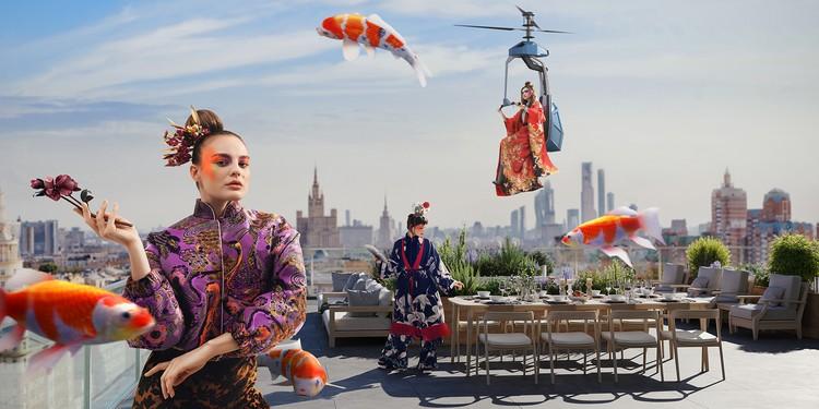Комплекс «Сады Пекина». Этот сюжет вдохновлен самой жизнью, ведь с приходом тепла террасы по-настоящему оживают.