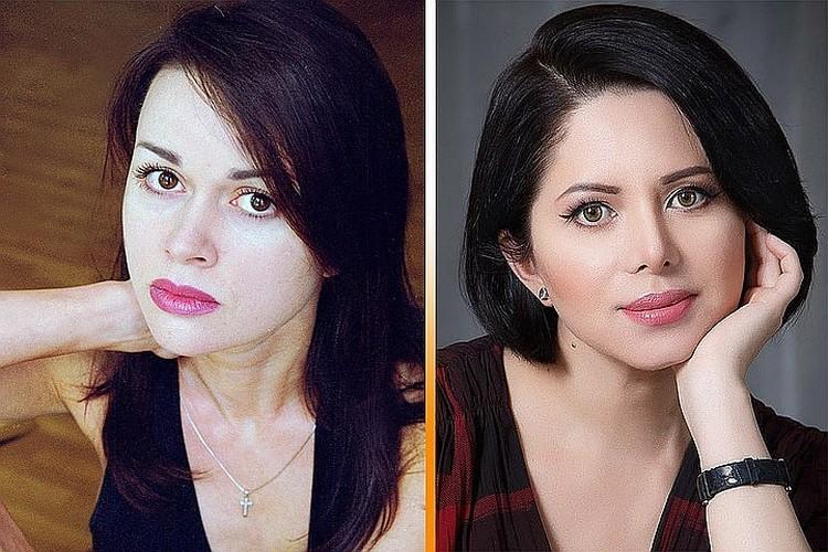 Виктория Ворожбит (справа) по удивительному совпадению оказалась очень похожа на экс-возлюбленную актера Анастасию Заворотнюк. Фото: личная страничка в соцсети + Global Look Press