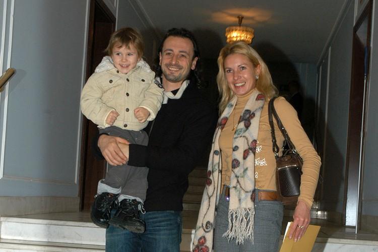 Фигуристка Ирина Лобачева с мужем Ильей Авербухом и сыном Мартином