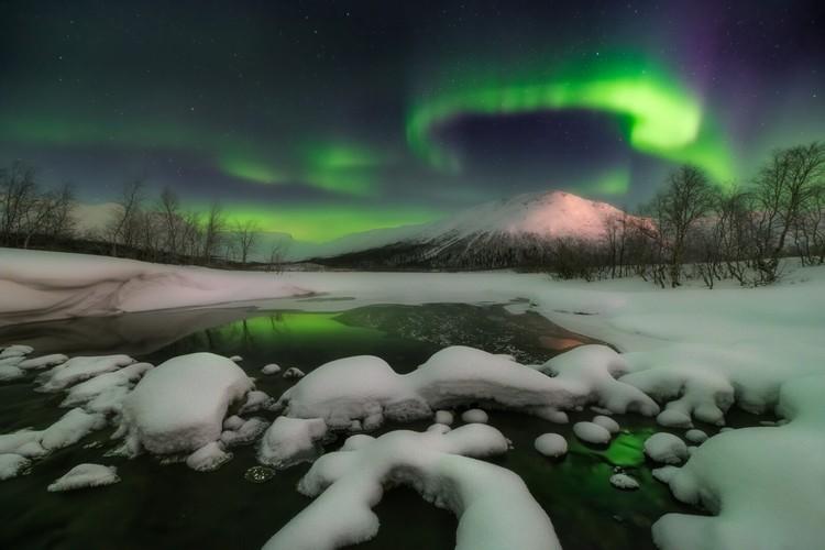 «Ночь на севере». Фото Xiao Zhu («Пейзаж»)