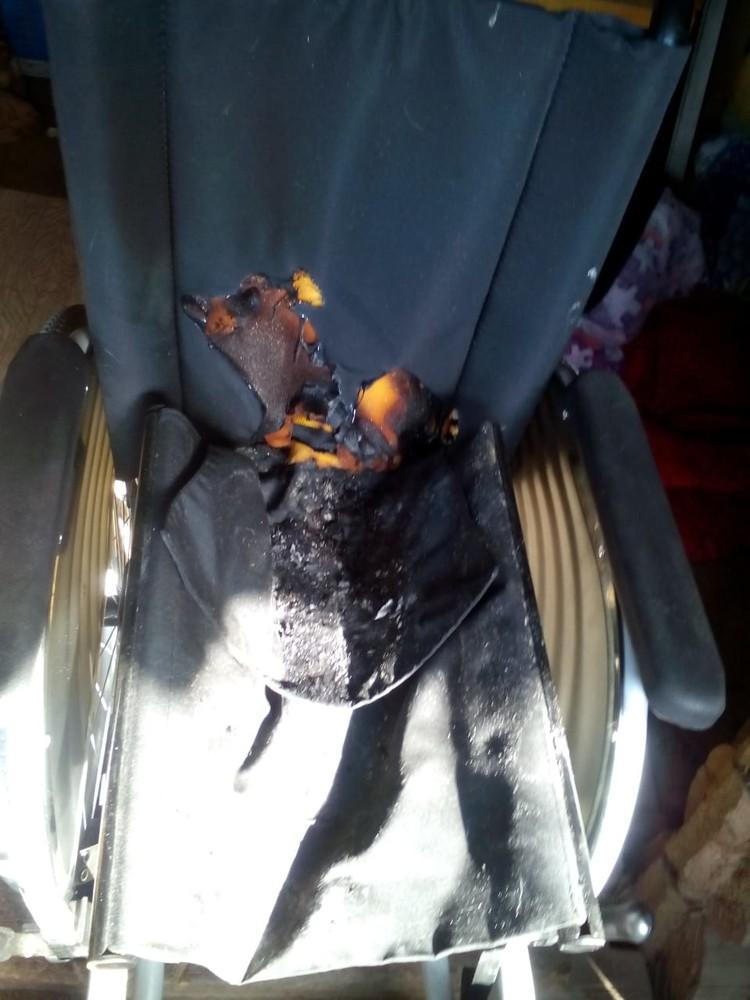Та самая инвалидная коляска. Фото: ГУ МЧС по Новосибирской области.