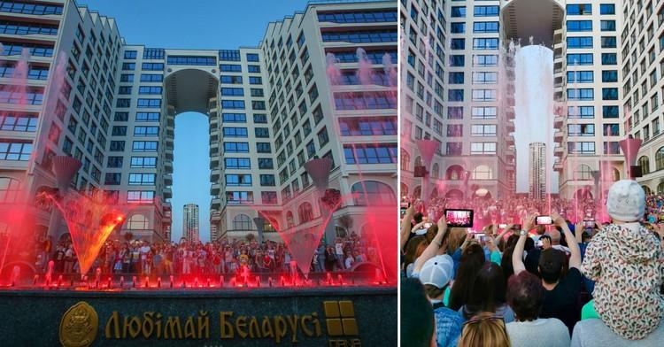 Мультимедийный фонтан «Дана Танец» – новая городская достопримечательность Минска.