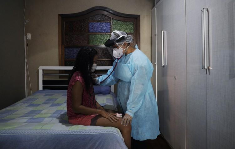 В бразильском госпитале для пациентов с коронавирусом.
