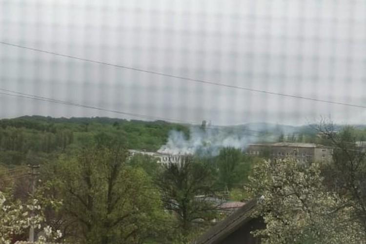 Дым распространился на всю округу