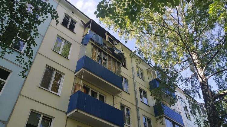 Поврежденный балкон