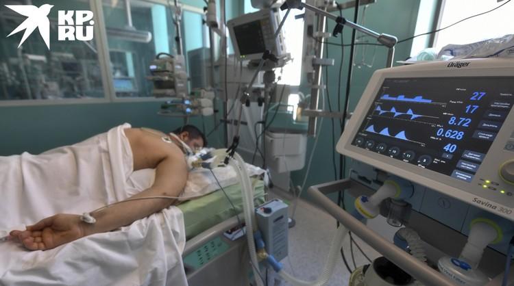 Реанимация... На экран выводятся все основные показатели, связанные с дыханием.
