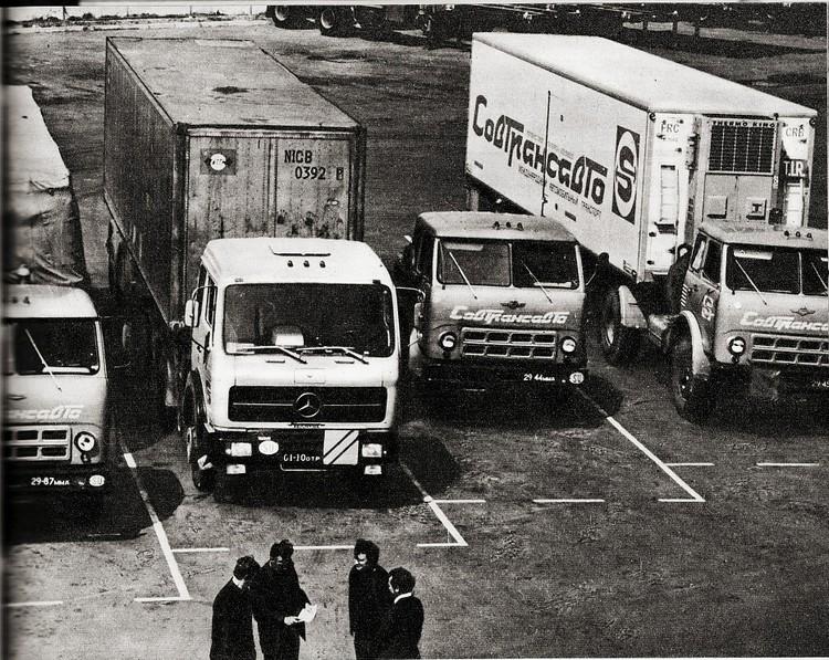 Грузовики «Совтрансавто» заполонили Брест в середине 70-х. Фото: ГПК