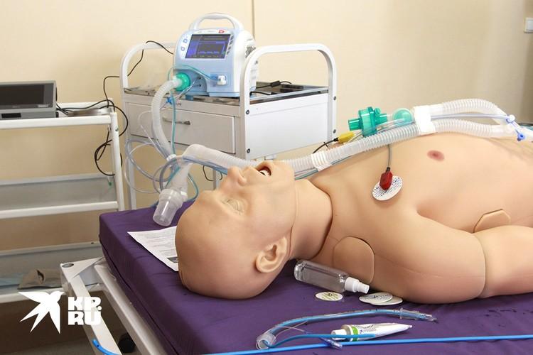 Аппарат искусственной вентиляции легких в больнице.