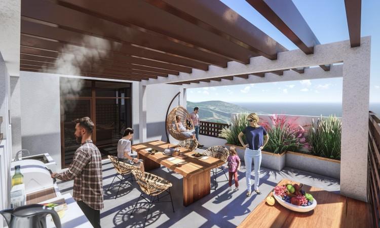 В жилом доме комфорт-класса доступны квартиры с террасой.