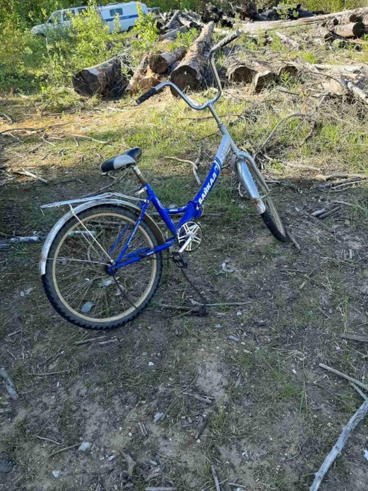 """Велосипед на котором уехал мальчик нашли в лесу. Фото: поисковый отряд """"Лиза Алерт""""."""