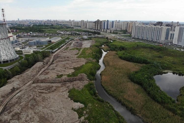 """По подсчетам активистов, свалка уже протянулась более чем на километр. Фото: сообщество """"Красивый Петербург"""""""