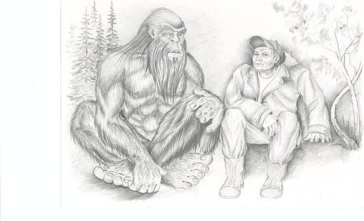 Кузбасский художник Андрей Любченко утверждает, что однажды встретил в лесу йети. И выглядел он именно так.