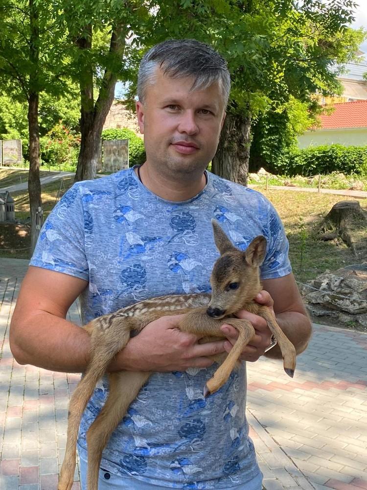 Виктор Жиленко и Серебряное копытце. Фото: Виктор Жиленко