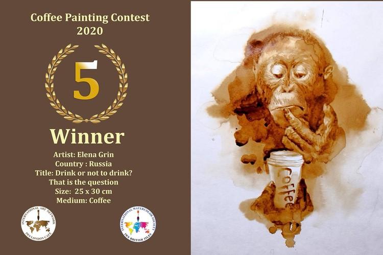 Эта работа краснодарской художницы Елены Гринь заняла пятое место на международном конкурсе рисунков кофе