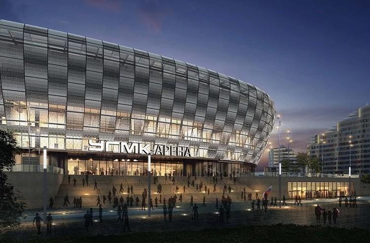 Одним из объектов, построенных к Универсиаде, станет Ледовая арена УГМК, построенная на месте снесенной Телебашни. Фото: пресс-служба УГМК