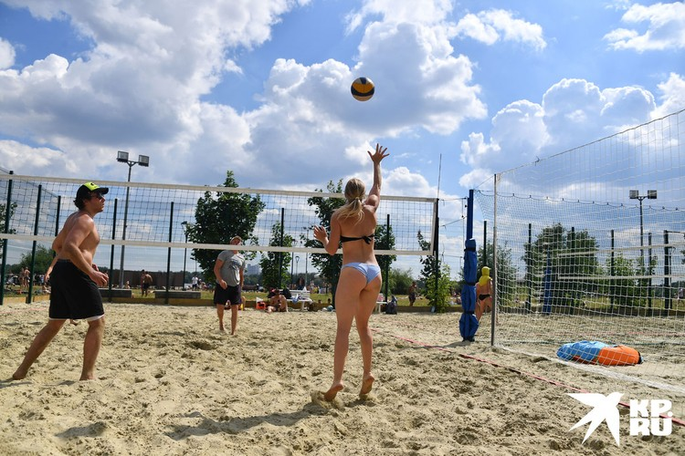 Пляжный отдых в Строгино.