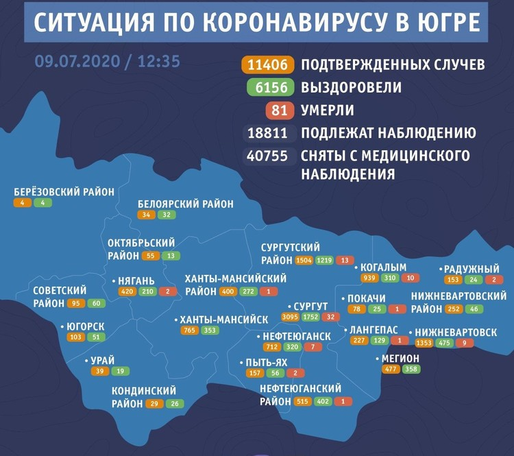 Статистика по коронавирусу от оперштаба региона