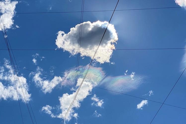 Радужные облака - редкое явление. Очень. Фото: Ирина ГУРСКАЯ