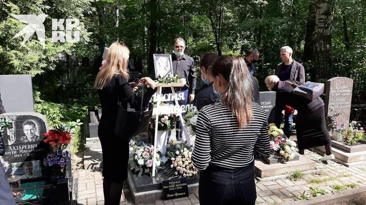 Мать Насти снимала церемонию прощания