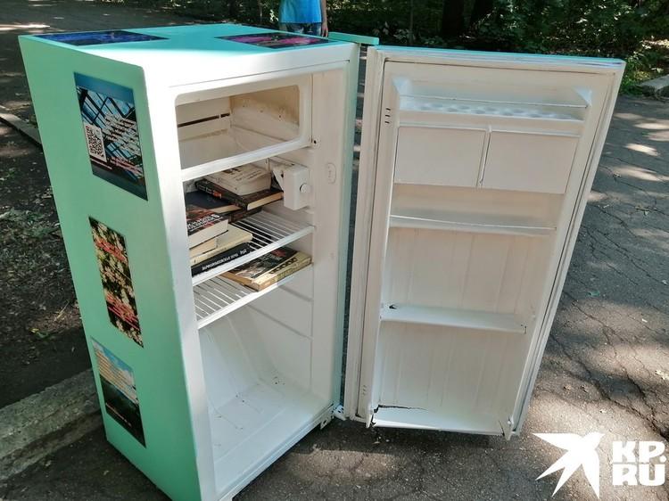 В лесопарке поставили холодильник для книг