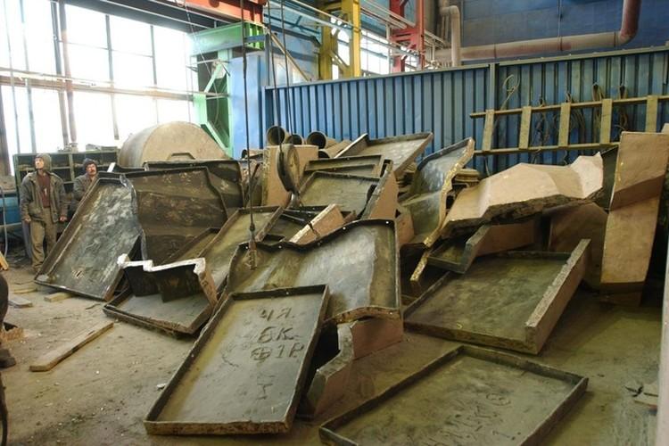 Сейчас бронзовый гигант хранится в мастерской Зураба Церетели в разобранном виде. Фото: предоставлено Серги Шугалшвили