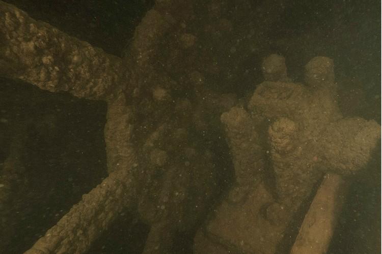 Штурвал судна. Фото: Дайв-бот «Одиссей-2»