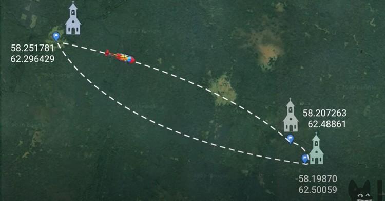 Точные координаты скитов. Фото: кадр из фильма Ксении Собчак